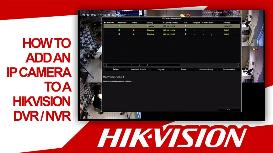 Hikvision How To Quickly Add An IP Camera To A DVR / NVR