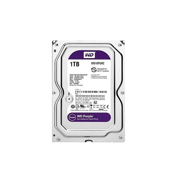 "Western Digital Purple 1TB (HDD) 3.5"" Surveillance Hard Drives"