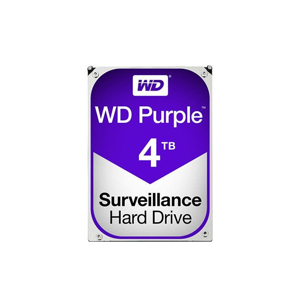 Western Digital Purple 4TB (HDD) 3.5″ Surveillance Hard Drives