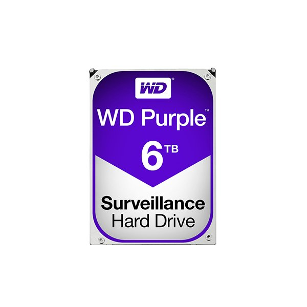 Western Digital Purple 6TB (HDD) 3.5″ Surveillance Hard Drives