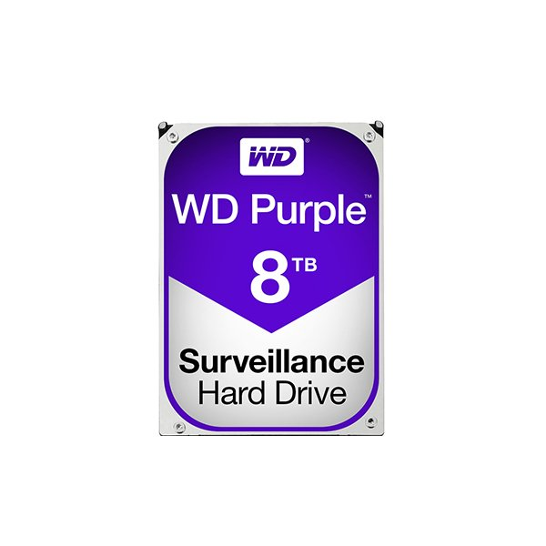 Western Digital Purple 8TB (HDD) 3.5″ Surveillance Hard Drives