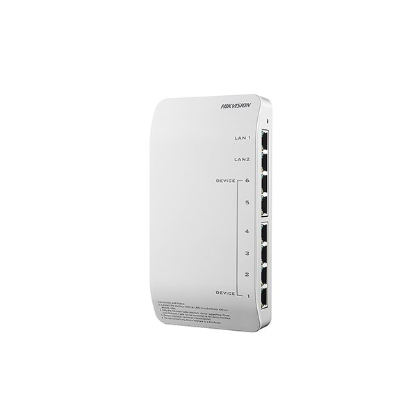 Hikvision DS-KAD606-P 6 Channel Intercom Poe Switch