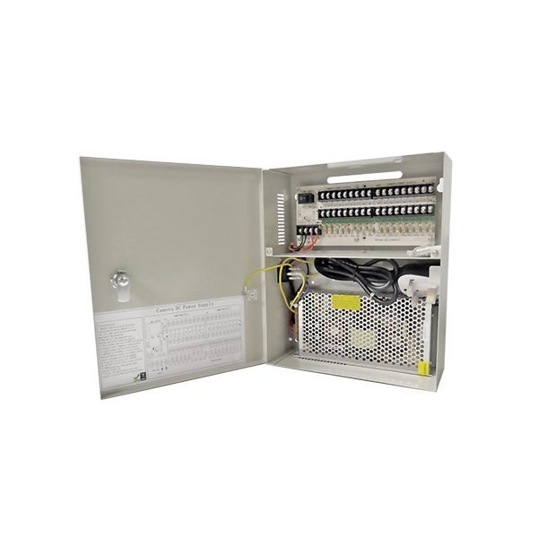 10 Amp 18 Way Power Supply DC 12V Lockable Box