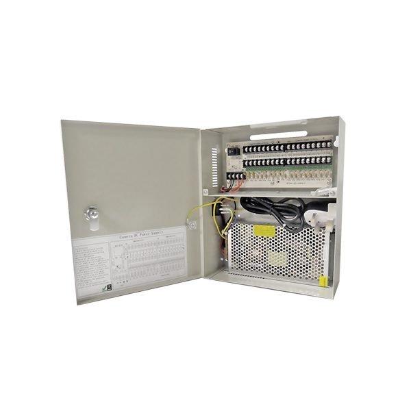 20 Amp 18 Way Power Supply DC 12V Lockable Box