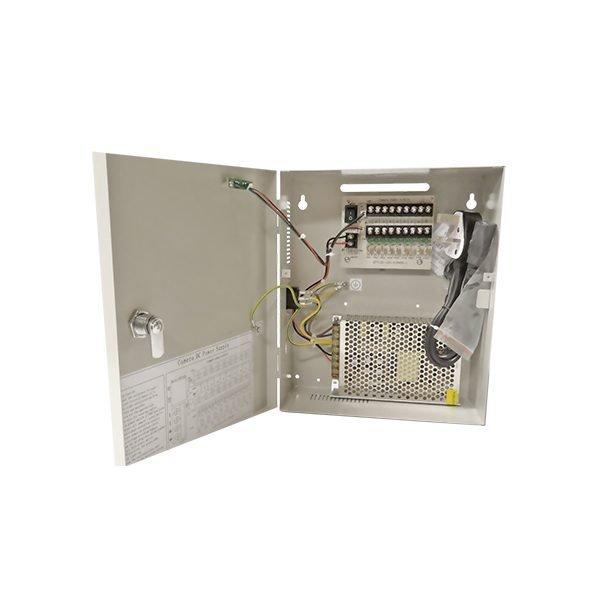 10 Amp 9 Way Power Supply DC 12V Lockable Box