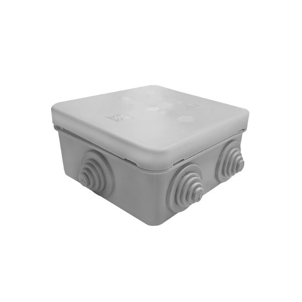 IP55 Weatherproof Grey Junction Box Housing 113x113x58mm