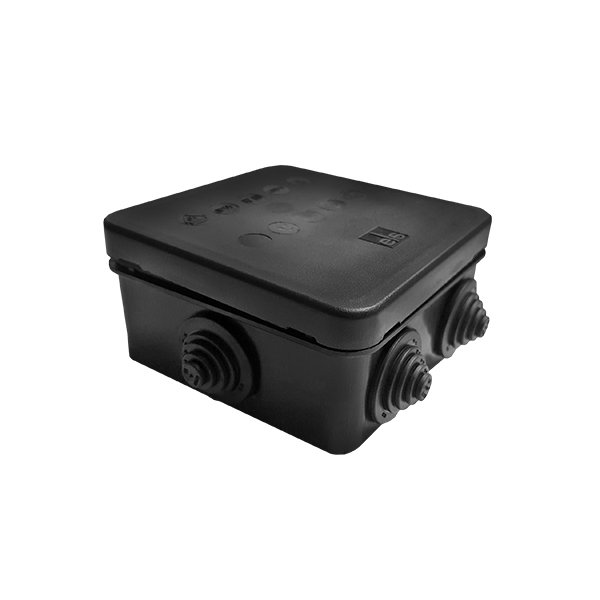 IP55 Weatherproof Black Small Junction Box Housing