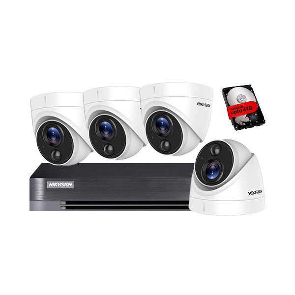 Hikvision CCTV Kit DS-7204HQHI-K1 & 4x DS-2CE71D8T-PIRL