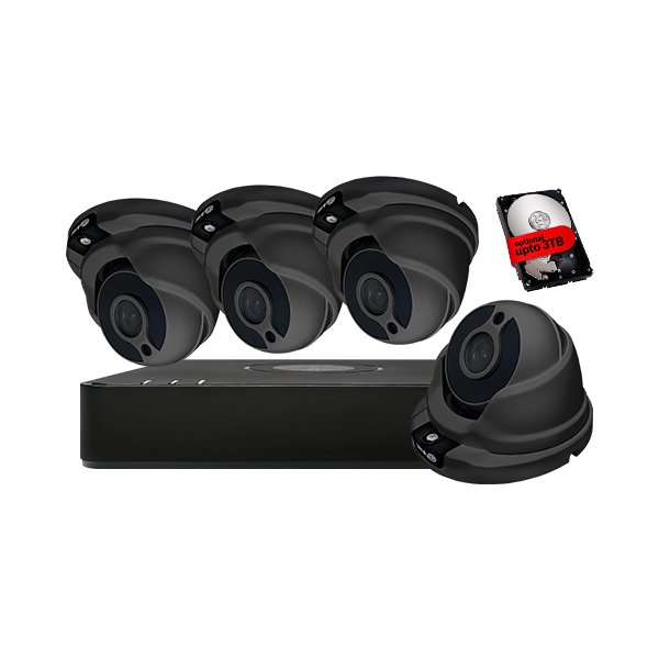 ProLux CCTV Kit DVR-104G-F1 & 4x PX-610-F2G