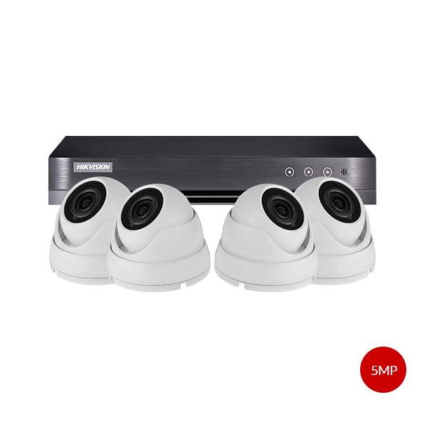 Aveesa 5MP CCTV Kit DS-7204HUHI-K1 & 4x AV-722DXF-W5