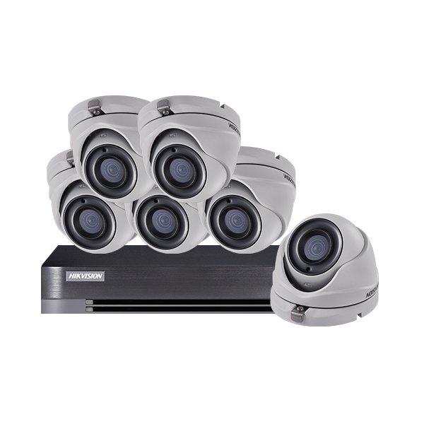 Hikvision CCTV Kit DS-7208HQHI-K1 & 6x DS-2CE56D8T-ITM