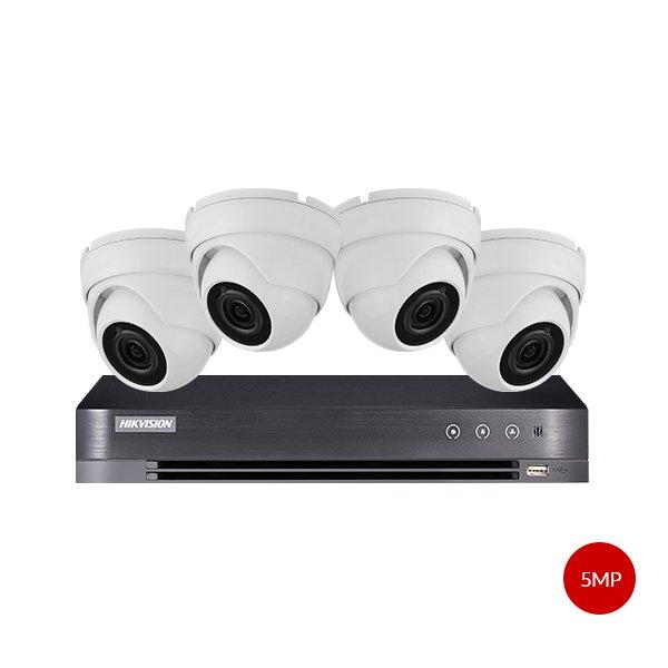 Aveesa 5MP CCTV Kit DS-7208HUHI-K1 & 4x AV-722DXF-W5