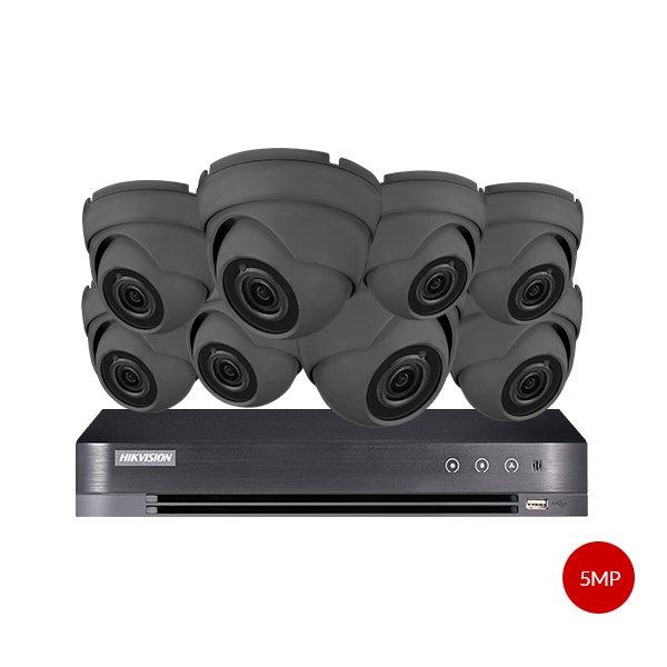Aveesa 5MP CCTV Kit DS-7208HUHI-K1 & 8x AV-722DXF-G5