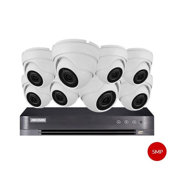 Aveesa 5MP CCTV Kit DS-7208HUHI-K1 & 8x AV-722DXF-W5