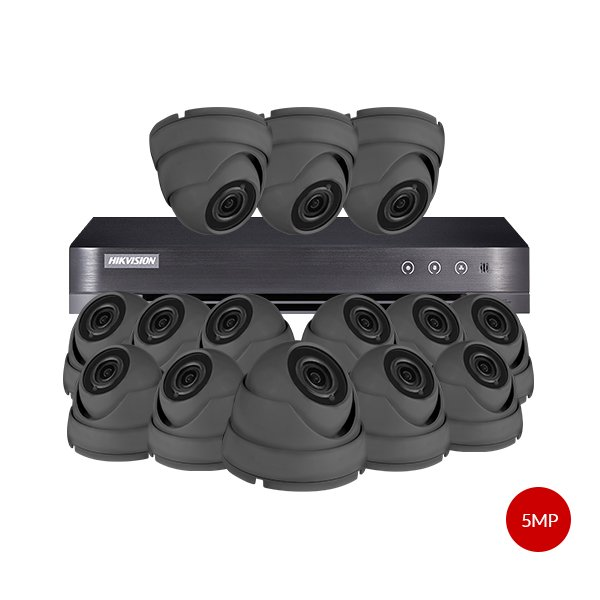 Aveesa 5MP CCTV Kit DS-7216HUHI-K2 & 14x AV-722DXF-G5