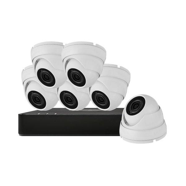 Aveesa CCTV Kit DVR-108G-F1 & 6x AV-522DXF-W2