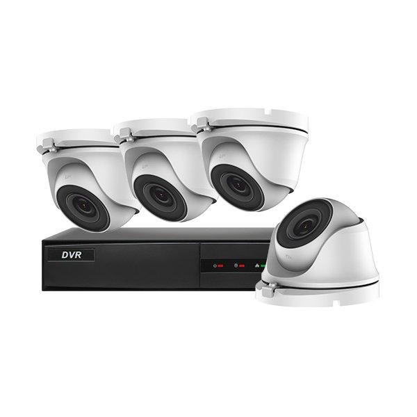 Hiwatch CCTV Kit DVR-204G-F1 & 4x THC-T120-M