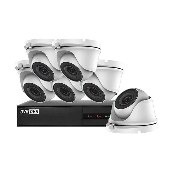 Hiwatch CCTV Kit DVR-208G-F1 & 6x THC-T120-M